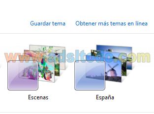 Temas Gráficos ocultos en Windows7