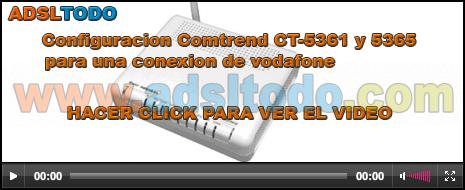 Configuración de un Router Comtrend CT-5365 para Vodafone