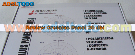 Nueva Review de una antena tipo panel Crotalus Panel de 20,5 dbi