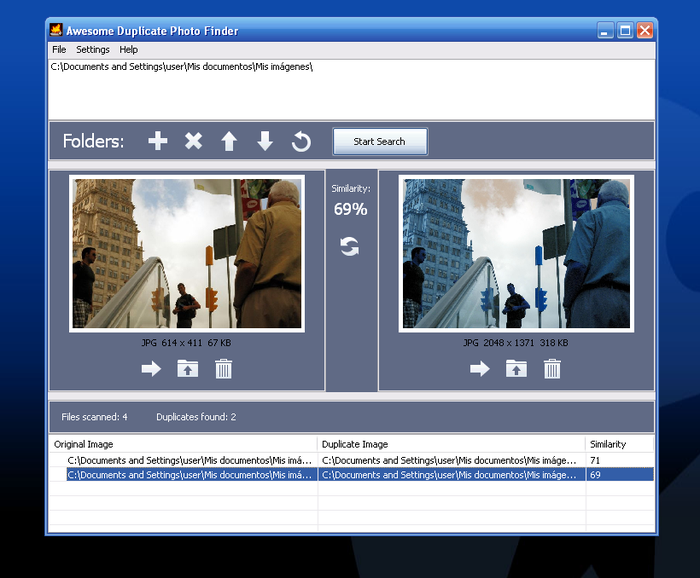 Encuentra imágenes duplicadas con Awesome Duplicate Photo Finder
