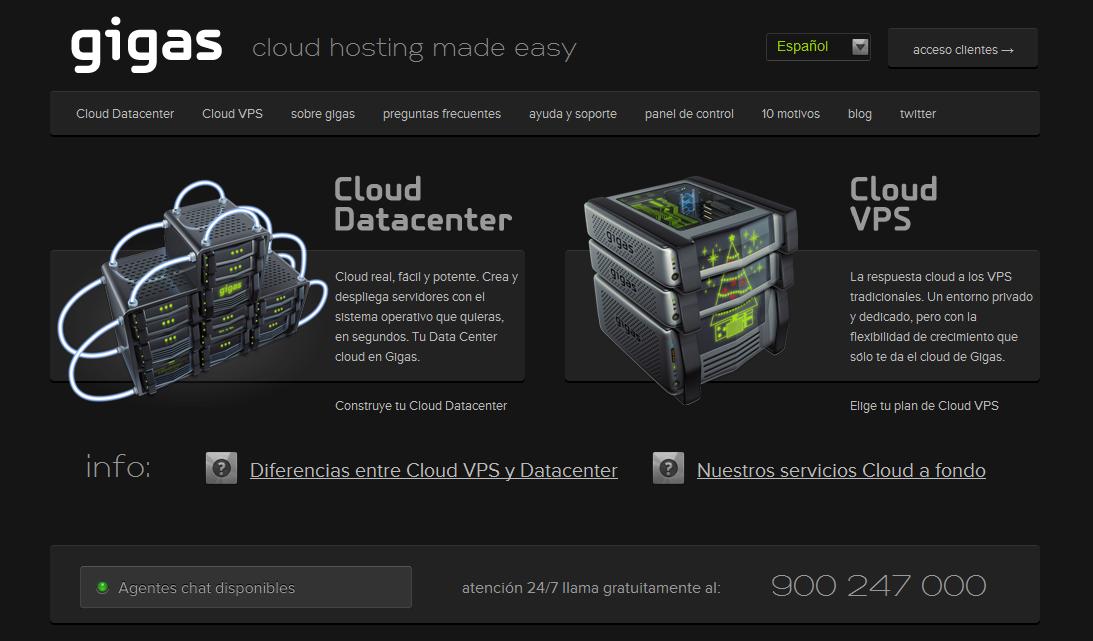 Almacenamiento en la nube con Gigas.com