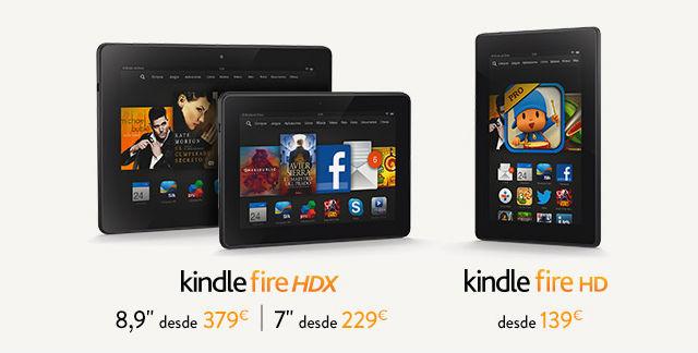 Los nuevos Kindle Fire HDX, ya a la venta en España