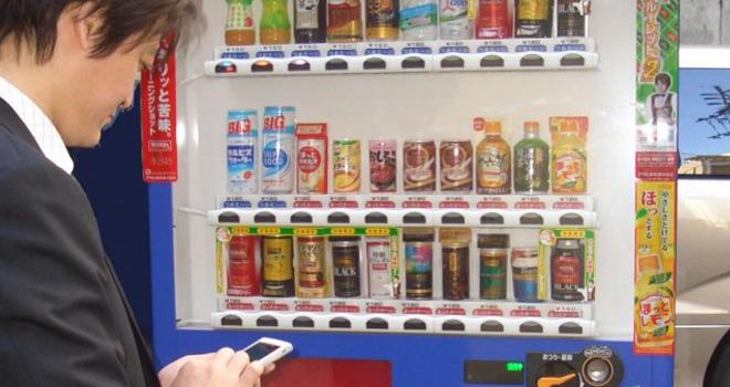 Máquinas Expendedoras con WiFi en Japón