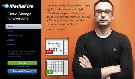 MediaFire se convierte en un servicio de alojamiento en la nube como Dropbox