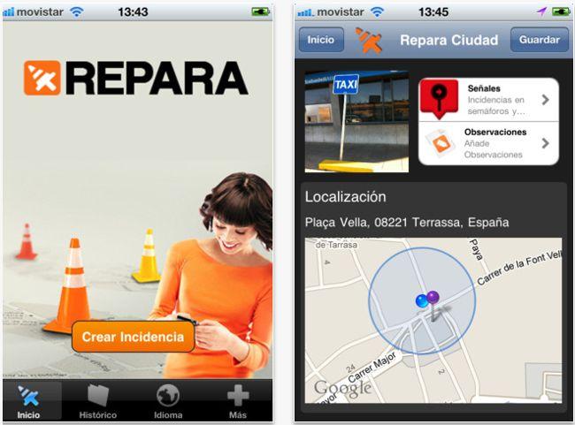 Repara, servicio participativo de mejora de la vía pública