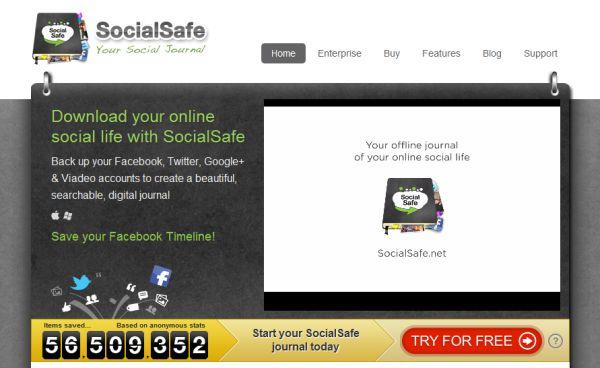 Realiza Backups de tus redes sociales con SocialSafe