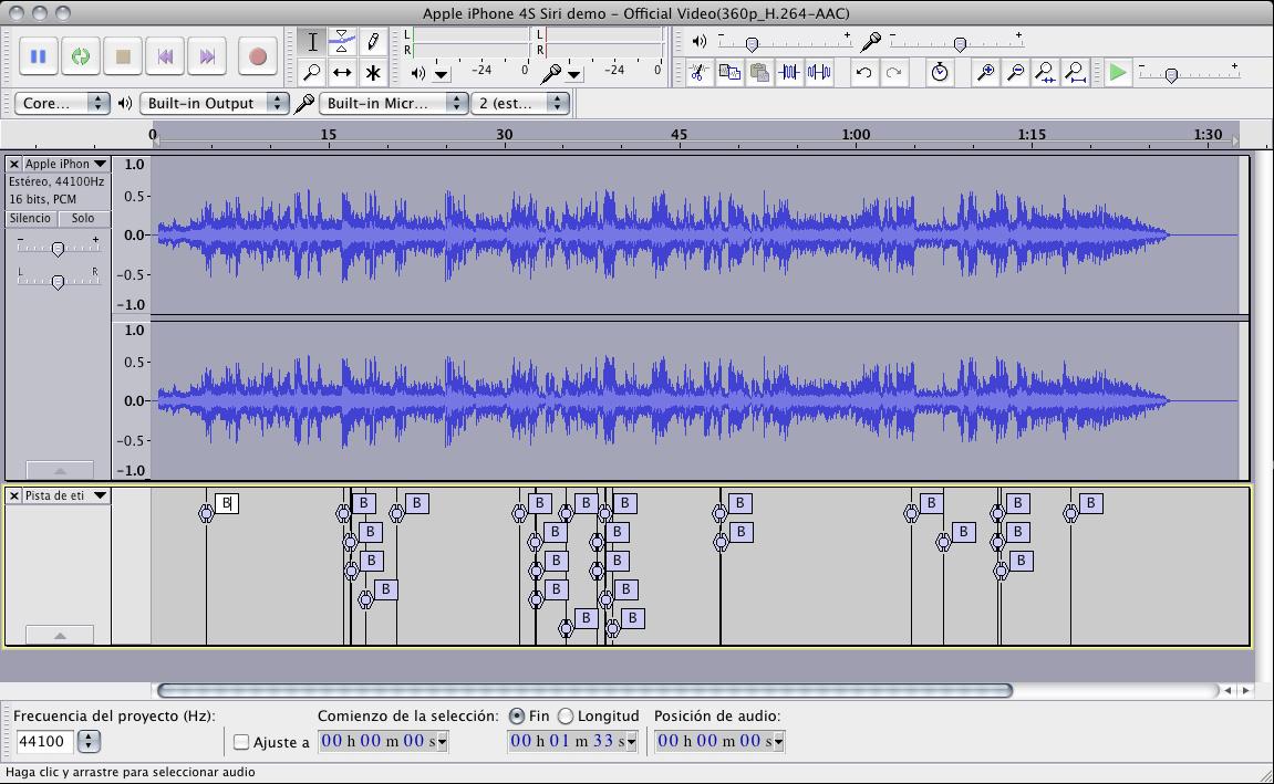 Audacity, el editor de audio gratis