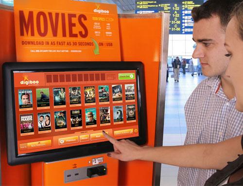 Digiboo : Alquiler y compra de películas en el aeropuerto